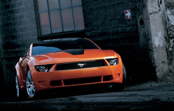 Picture wall, window, lane, ford mustang giugiaro