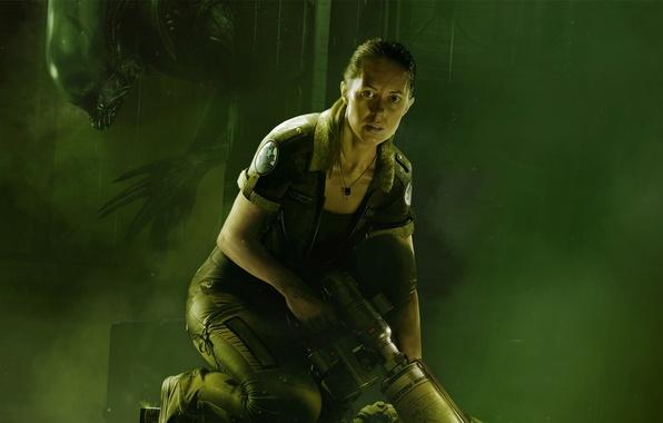Picture look, girl, fear, the victim, monster, Stranger, alien, couples, hunter, Xenomorph, SEGA, Alien: Isolation, Alien: …