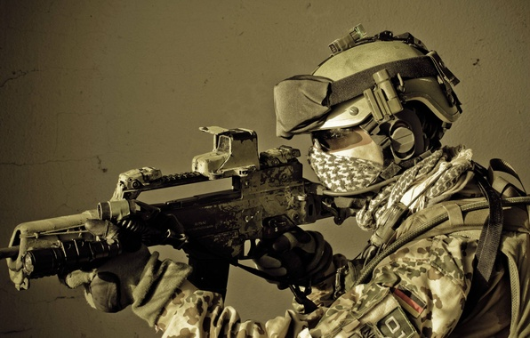 Picture Germany, soldiers, machine, rifle, equipment, assault, the Bundeswehr, HK G36