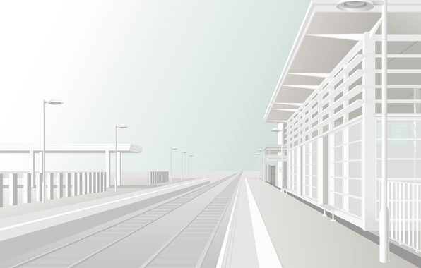Picture white, the way, vector, Station, the platform
