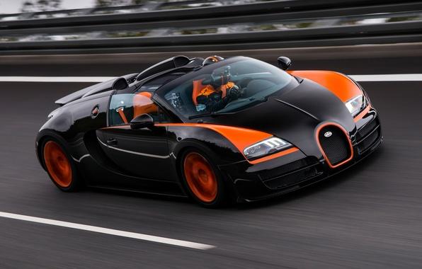 Picture Bugatti, Bugatti, Veyron, Veyron, supercar, racing track, the front, hypercar, Grand Sport, Vitesse, 16.4, World …