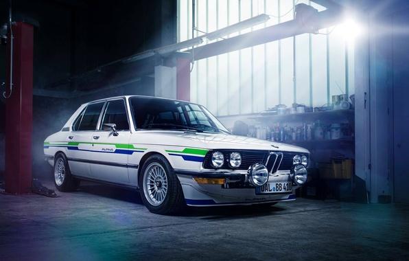 Picture BMW, Sun, E28, Garage, Alpina, 1983, Ligth
