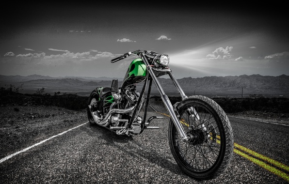 Picture road, design, style, motorcycle, bike, chopper