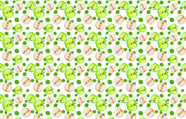 Picture pattern, Apple, half