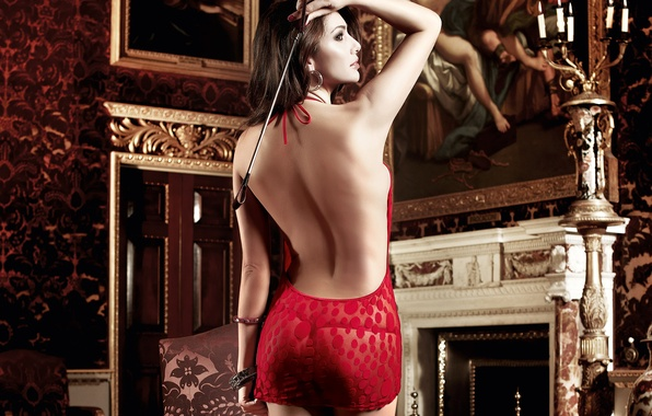 Picture ass, girl, model, back, picture, candles, dress, Bruneck, fireplace