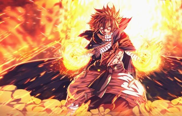 Photo Wallpaper Slayer Dragon Fire Hero Anime Fairy Tail Natsu