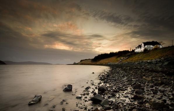 Picture sea, stones, shore, Scotland