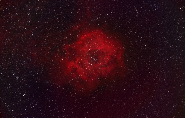 Picture Outlet, giant, emission nebula, in the constellation Unicorn