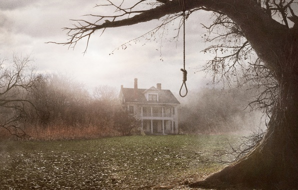 Picture fog, house, tree, twilight, The Conjuring, The spell