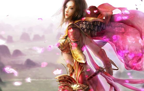 Picture pink, petals, warrior