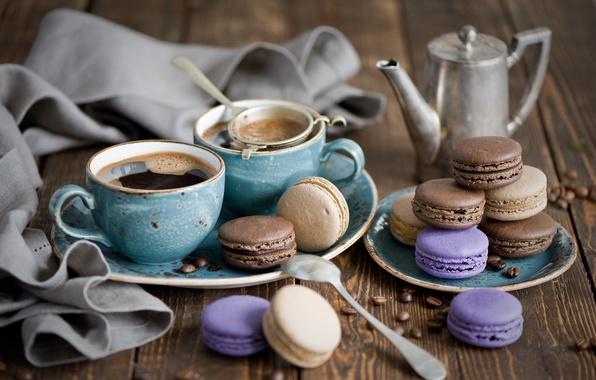 Picture coffee, grain, cookies, Cup, dessert, cakes, cup, sweet, sweet, coffee, dessert, cookies, pastry, macaron, macaron