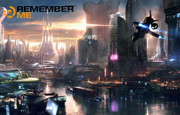 Picture the city, cyberpunk, capcom, Adrift, remember me, Neo-Paris
