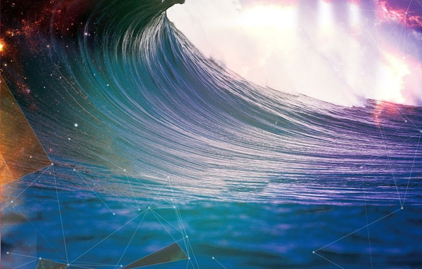 Picture the ocean, wave, Abstraction