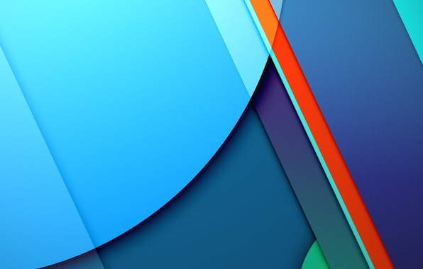 Picture Android, Red, Circles, Blue, Design, 5.0, Line, Colors, Lollipop, Stripes, Abstraction, Material