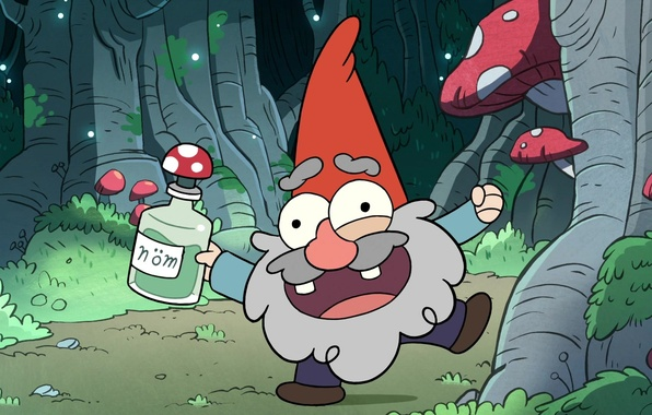 Picture forest, dwarf, Gravity Falls, Gravity Falls
