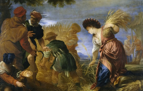 Picture picture, history, genre, mythology, Juan Antonio de Frías Escalante, The reapers in the Promised Land