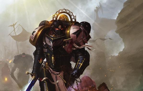 Picture Warhammer, black templars, space Marines, Warhammer 40k, space marines, champion of the Emperor, black Templars, …