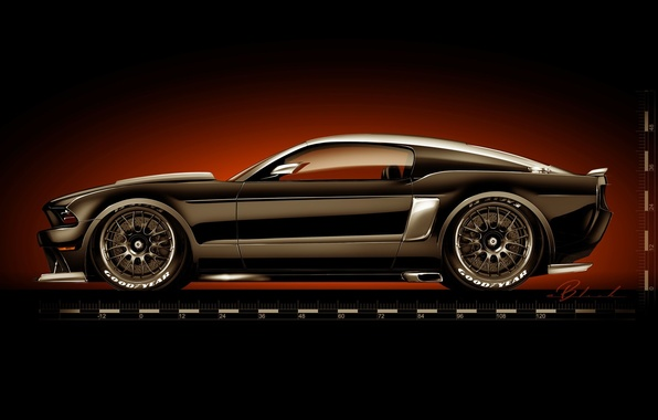 Picture tuning, figure, Ford Mustang, Ford, muscle car, Hollywood Hot Rods