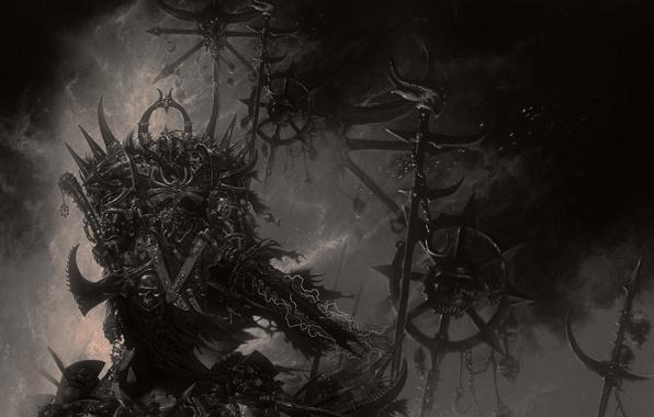 Picture sword, armor, warrior, axe, Warhammer