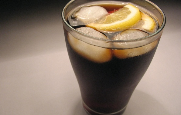 Picture glass, lemon, ice, glass, cold, lemon, ice