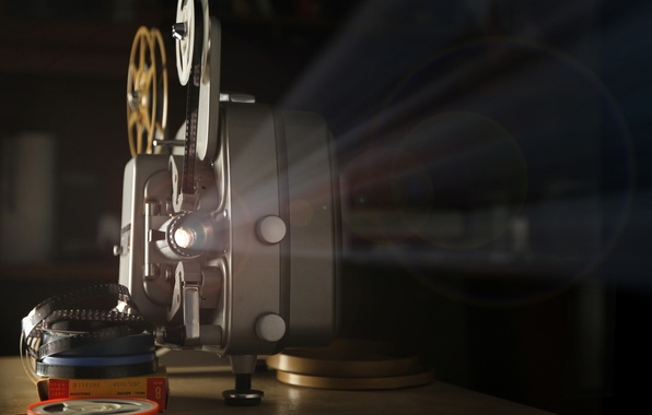 Picture macro, light, retro, movie, blur, the show, hi-tech, movie, bokeh, coil, film, wallpaper., technology, projector, …