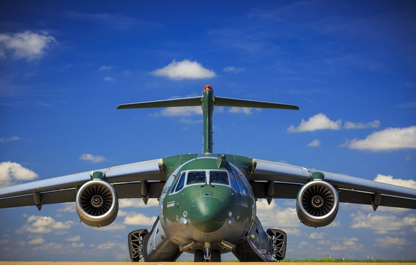 Wallpaper FAB Embraer KC 390 Military Aircraft Force