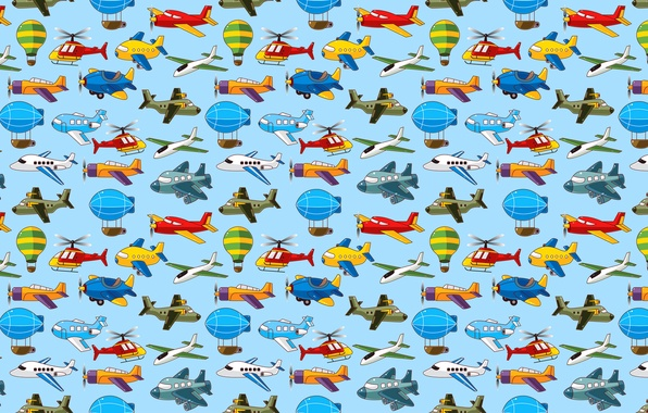 Picture aviation, the plane, balloon, vector, helicopter