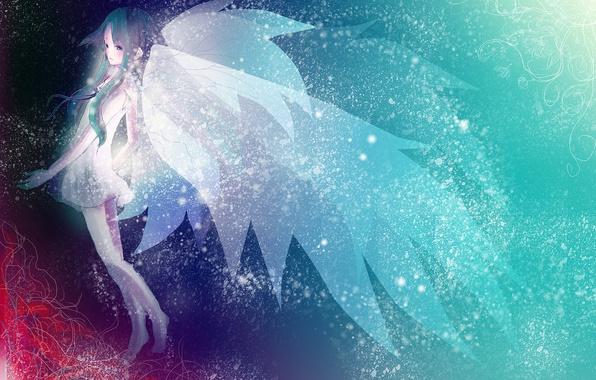 Picture girl, wings, anime, art, saya no uta, saya, Song of Saya, song SAI