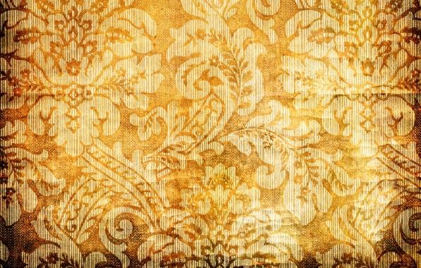 Picture flowers, orange, yellow, background, patterns, texture, petals, gold, gold, design, yellow, patterns, flowers, orange