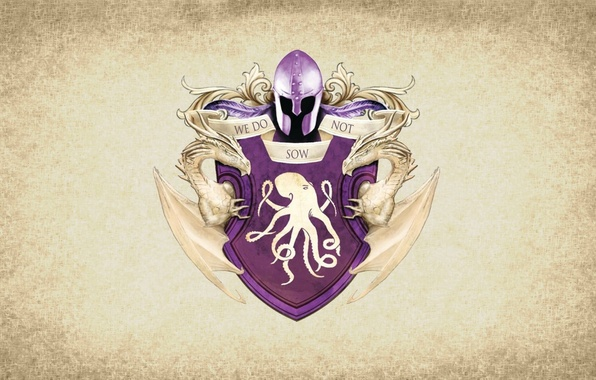 Picture octopus, symbol, series, dragon, A Song of Ice and Fire, Game of Thrones, shield, Greyjoy, …