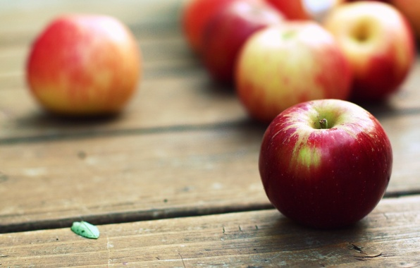 Picture macro, table, Wallpaper, apples, pictures, fruit, WALLPAPERS