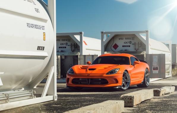 Picture Dodge, Orange, Viper, Front, Time, Attack, ADV.1