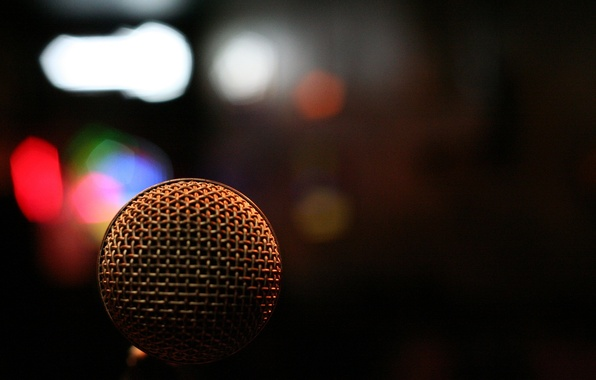 Picture macro, light, music, paint, colors, music, light, microphone, macro, microphone, bokeh, bokeh, 1920x1280