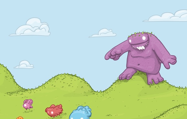 Picture vector, Monster, animals