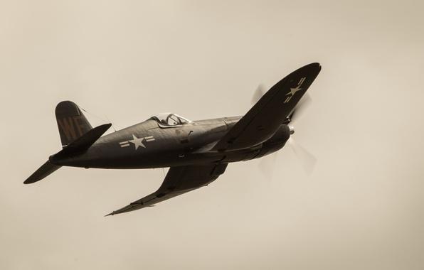 """Picture flight, fighter, Corsair, F4U, """"Le Corsaire"""""""
