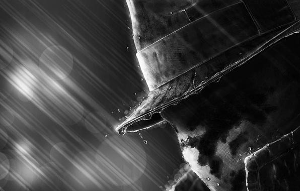 Picture rain, mask, Watchmen, keepers, Rorschach, Walter Kovacs