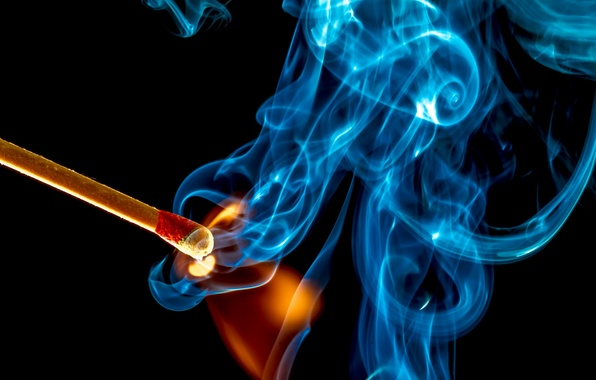 Picture macro, fire, smoke, match