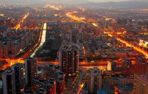 Picture lights, lights, China, building, China, Beijing, buildings, Beijing, cityscape midnight, cityscape midnight