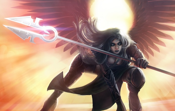 Picture girl, wings, angel, art, Magic The Gathering, avacyn, Angel of Hope
