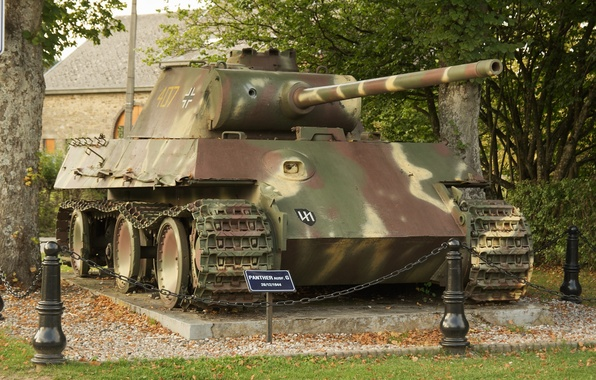 Picture tank, camouflage, coloring, The second world war, German, Panther Ausf.G, medium-heavy, Panzer V