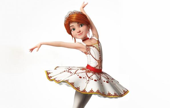 Picture pose, cartoon, dance, dress, hairstyle, girl, white background, red, Ballerina, Ballerina, Felicie Milliner