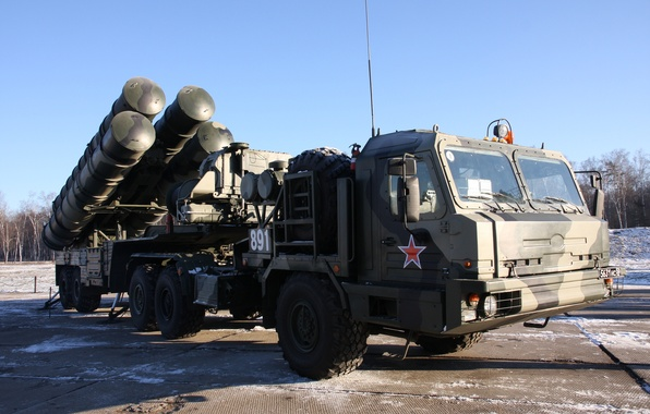 """Picture system, complex, S-400, anti-aircraft, Russian, rocket, range, large and medium, (SAM), """"Triumph"""", anti-aircraft missile"""