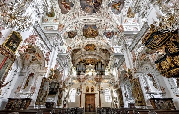 Picture Austria, Church, Cathedral, the monastery, Garsten, Collegiate Church Of Garsten