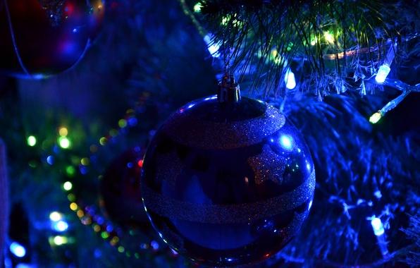 Picture winter, joy, toys, beauty, New Year, elegant, Tree