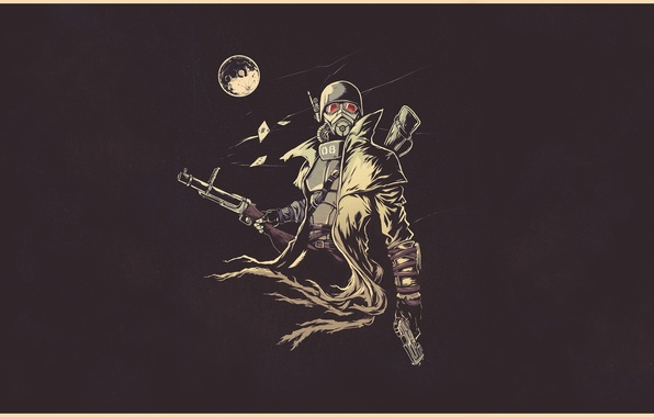 Picture fiction, the moon, figure, art, soldiers, helmet, moon, armor, Fallout, soldier, armor, postapokalipsis, art, ranger, …