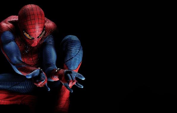 Picture darkness, hero, costume, The Amazing Spider-Man, Andrew Garfield, New spider-Man, Andrew Garfield