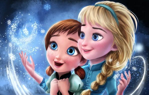 Photo Wallpaper Frozen Disney Anna Princess Cartoon Elsa