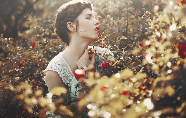 Picture girl, nature, mood
