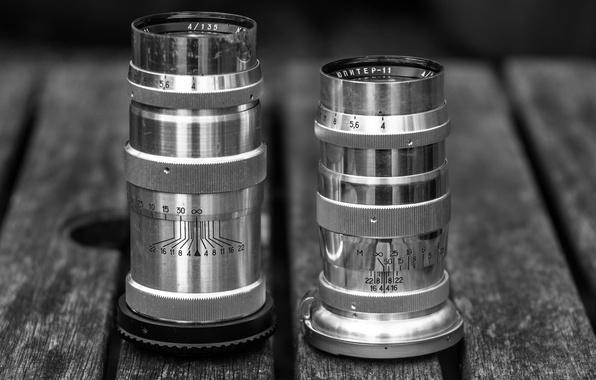 Picture table, lenses, Jupiter 11