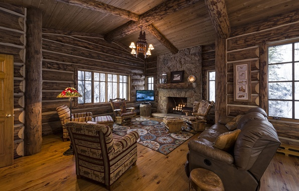 Picture wooden, living room, home, luxury, colorado, blue sky lodge